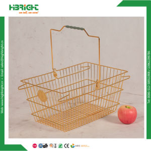 Metal Shopping Wire Baskets for Grocery Store (HBE-B-19) pictures & photos