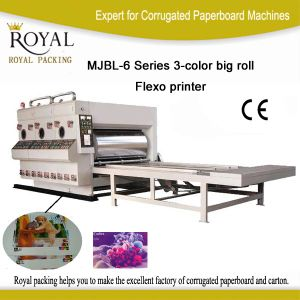 Mjbl-6 Series 3-Color Big Roll Flexo Printer pictures & photos
