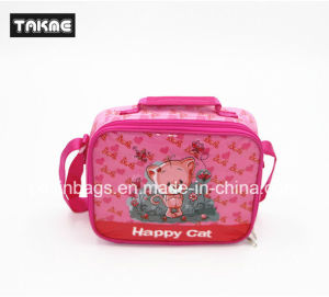 Cartoon Printing Cooler Bag Ice Bag Lunch Bag for Children (Transparent PVC Printing)