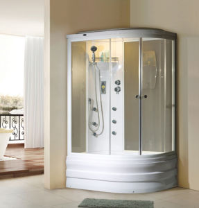 Sliding Bilateral Open-Door Steam Shower Room with Aluminium Alloy Frame pictures & photos