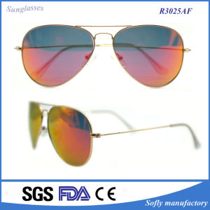 Premium Mirrored Cool Classic Gold Frame Metal Sunglasses pictures & photos