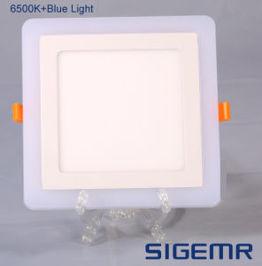 Recessed Embeded Square Double Color 6W 9W 16W 24W LED Panel Light pictures & photos