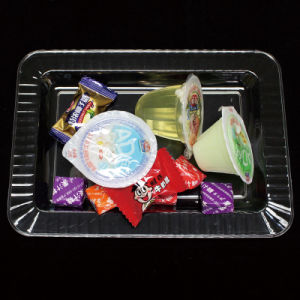 Plastic Plate Disposable Tray Rounded Rectangle Plate pictures & photos