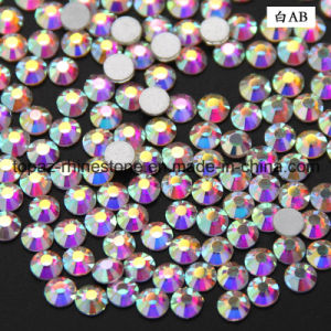 Necklace Glass Crystal Flat Bottom Foiled Back Clear Ab Glass Rhinestone (FB-ss16 crystal ab) pictures & photos