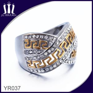 Yr037 X Shape Gold Loopback Patern Wedding Ring with Zirconia pictures & photos