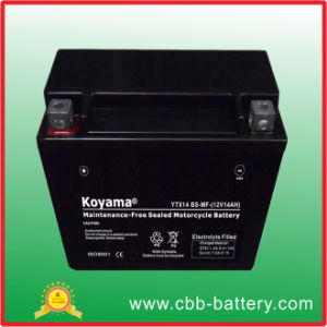 High Performace 12V 12ah Sealed Lead Acid AGM Mf Motorcycle Battery Ytx14-BS pictures & photos