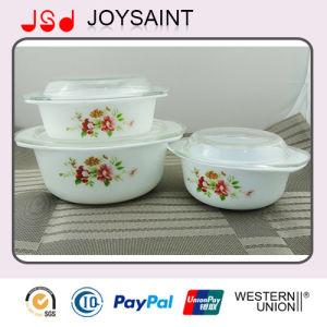 Flower Opal Glass Casserole pictures & photos