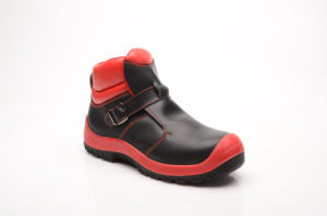 New Designed Shiny Smooth Leather Safety Shoes (HQ8002) pictures & photos