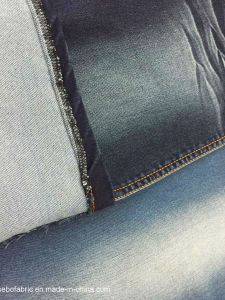 Knitted Denim Fabric with Mercerized