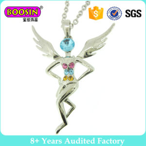 Fashion Angle Colorful Crystal Pendant Necklace Jewelry (12726) pictures & photos