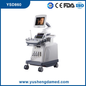 Full Digital 4D Color Doppler Trolley Ultrasound Scanner System Ysd860 pictures & photos