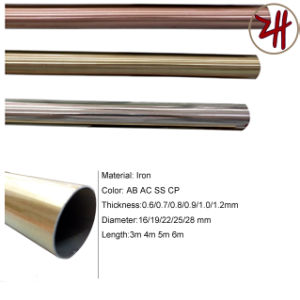 New Design Aluminum & Rion Curtain Pipe Rod Track (ZH-8816)
