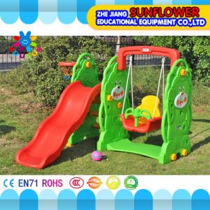 Indoor Playground Bear Shape Children Toys Kindergarten Soft Plastic Slide Playground (XYH12065-4) pictures & photos
