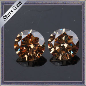 Sparkle Brilliant Cut Champagne CZ Gemstone for Fashion Jewelry pictures & photos