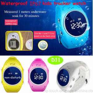 Waterproof IP67 Kids GPS Tracker Watch with WiFi/Lbs/GPS Positioning (D11) pictures & photos