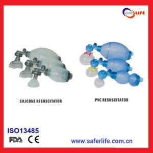 2015 Wholesale PVC First Aid Reusable Silicone Resuscitator Oval Silicone Resuscitator Silicone Manual Resuscitator pictures & photos