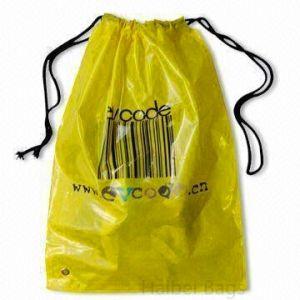 LDPE Drawstring Plastic Shoe Bag (HBPL-4) pictures & photos