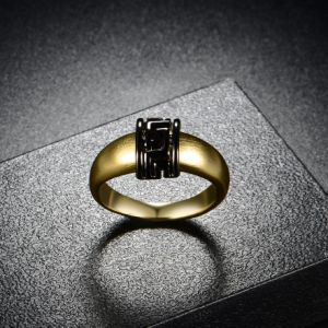 Black Greek Key Christmas Gift Artificial Gold Ring Jewelry pictures & photos