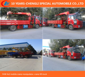 HOWO 4X2 Lorry Truck with Crane pictures & photos
