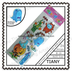 PVC Multilayer Puffy Sticker with Acrylic for Kid M19series