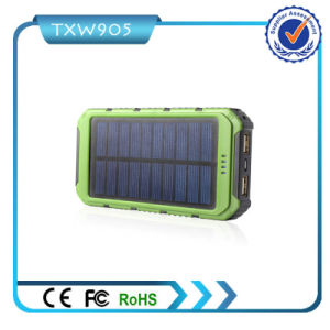 2016 Best Quality High Capacity Solar Power Bank 10000mAh Mobile Power Supply for Smart Phones