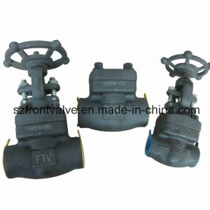 Screwed and Socket Welded Forged Steel Gate Valves pictures & photos