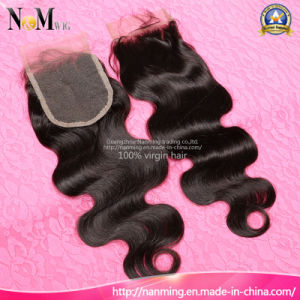 Factory Wholesale Price Cheap Weave Hair Lace Wig Closure pictures & photos