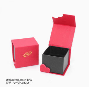 Red Pearl Paper Jewelry Boxes pictures & photos