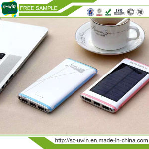Universal Portable 10000mAh Solar Power Bank Waterproof pictures & photos