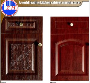 European Style Shaker PVC Kitchen Cabinet Door Price for Kitchen Cabinets (ZHUV) pictures & photos