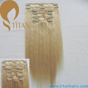 Virgin Human Remy Clip in Hair Extension (TT490) pictures & photos