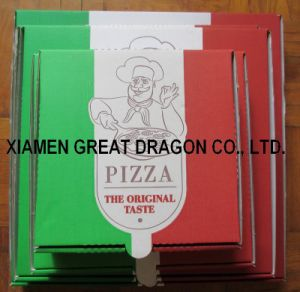 Locking Corners Pizza Box for Stability and Durability (PB160586) pictures & photos