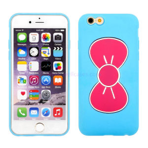 Wholesale Foldable Vara Bow Holder Silicone Cell/Mobile Phone Cover/Case for iPhone 5/6/6plus