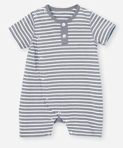 Bamboo Yarn Dyed Stripe Baby Romper pictures & photos