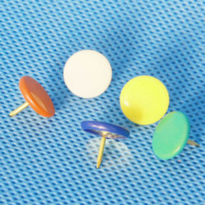 Coloured Plastic Coated Thumbtack (QX-T003) 9.5/10mm pictures & photos