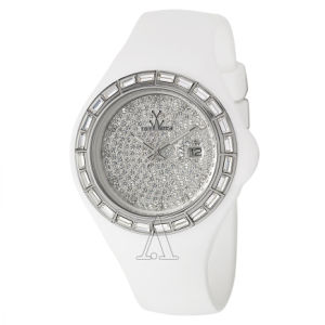 Highend White Ice Crystal Changeable Face Silicone Jelly Watch pictures & photos