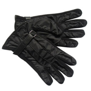 Men′s Fashion Nylon Taffeta Knitted Warm Ski Gloves (YKY5063) pictures & photos