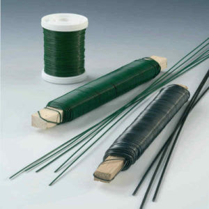 Green PVC Caoted 33 Guage Floral Stem Wire pictures & photos