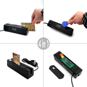 Zcs160 4-in-1 Smart Credit Card Reader and Writer Mag Reads, Psam/IC/SIM Read and Write