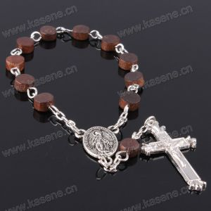Religoius Items Coffee Wooden Beads Rosary Bracelet pictures & photos