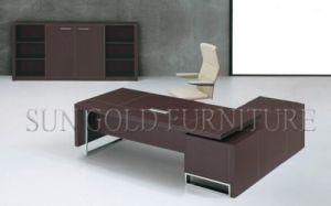 Luxury 2.2m L-Shape Office Teak Color Table Executive Desk (SZ-OD481) pictures & photos