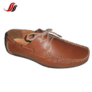 New Style Men′s Casual Leather Shoes Loafer Shoes (ML0504-1) pictures & photos