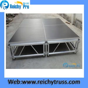 Black Stage Platform Adjustable Stage Anti-Slip Moving Stage pictures & photos