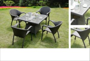 Classic Wicker Patio Furniture Outdoor Rattan Modern Dining Set pictures & photos
