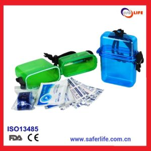 2017 Camping Emergency Small Waterproof Mini First Aid Box Transparent Mini First Aid Box First Aid Box for Swimmer Surfer pictures & photos
