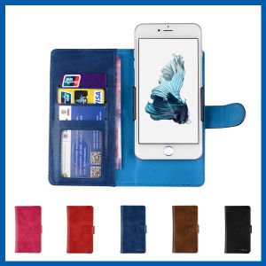 Leather Folio Stand Card Slots Cover for iPhone 6s Plus pictures & photos