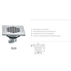 Stainless Steel Bathroom Hardware Floor Drain (D23) pictures & photos