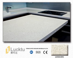 Artificial Engineered Quartz Stone for Vanity Top with Custom Design