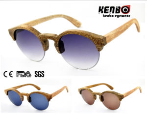 Hot Sale Fashion Half Frame Wooden Sunglasses (Optical frame) CE. FDA. Kw014 pictures & photos