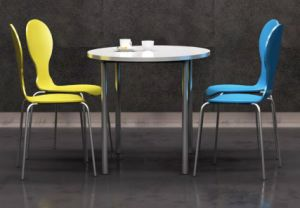 Modern Heavy-Duty Restaurant Dining Round Table and Chairs Set pictures & photos